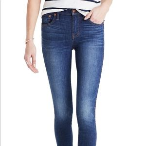 "Madewell 9"" High Riser Skinny in Polly Wash, 26T"
